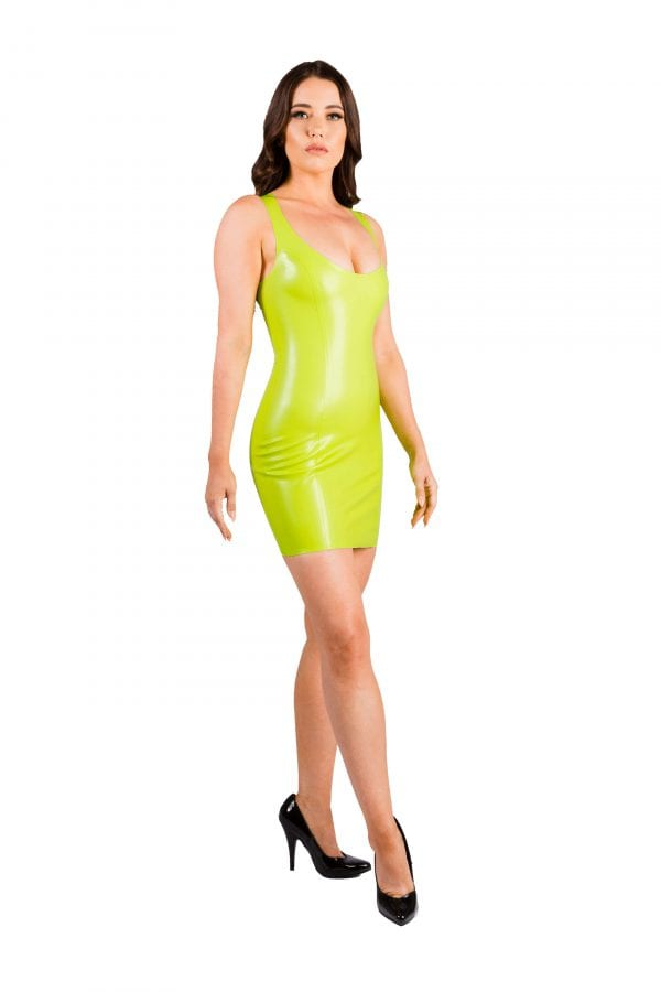Vibrant Lime Green Latex